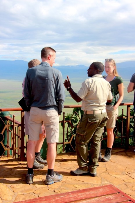 Guiding with a view to Ngorongoro